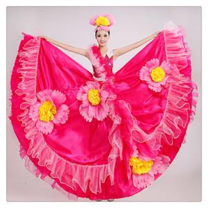 Vestido de baile de corrida de toros español Show Nightclub Estilo de moda Vestido de coro de dobladillo grande Regalo maravilloso para su actuación