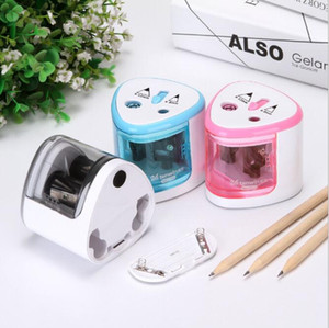 Multi Art Painting Automatic Lead Pencil Sharpeners 2 Holes Cartoon Electric Sharpener Desk Accessories Office & School Supplies HA604