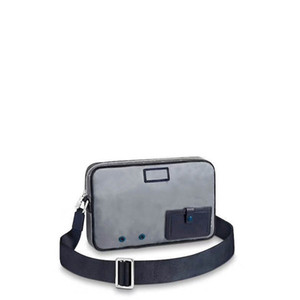Envío gratis global clásico de lujo de cuero de la lona de los hombres bolsas de hombro mejor calidad bolso 43918 tamaño 28 cm 19 cm 6 cm