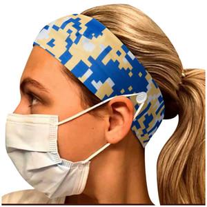 Şapkalar maske Tutucu Bant Eşarp Başörtüsü spor Saç bandanas LJJA4011 ile Yoga maske Düğme Kafa bandı Tutucu Koru Kulaklar