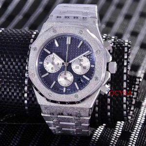homens cronômetro Royal Gold FROSTED moda de luxo dos homens do desenhista relógio de quartzo movimento de cronógrafo de pulso 2019 novo homem Relógios