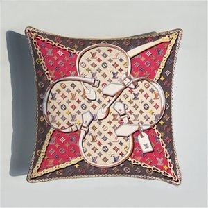 Yeni Yüksek Kaliteli Ana Yastık Yüksek Kaliteli Koltuk Araba Yastık Harf Desen Yastık Kapak (Coontain Çekirdek)