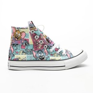 2019 new brand-name shoes cartoon Star 1970s Hi Tom & Jerry canvas shoes men and women shoes fashion plimsolls 1988