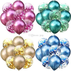 Gemischte Gold Konfetti Luftballons Geburtstag Party Dekoration Kinder Erwachsene Metallic Ballon Air Ball Set Geburtstag Ballon Dekor Ballon