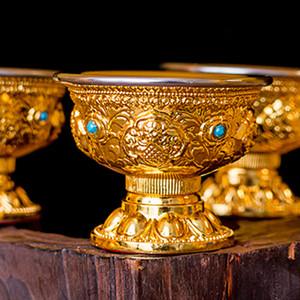 Alloy Fruit Bowl Temple bouddhiste Décoration religieuse Plaque de cérémonie