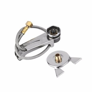 1 Set Picnic Camping Stove Split Converter Connector Gas Tank Adapter InCldue Box Hot sale Well Sell Drop Shipping