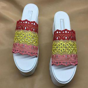 Stella Women's slippers Shoes high Quality Genuine Leather Women Fashion Platform Wedge Platform Oxfords slippers qx3