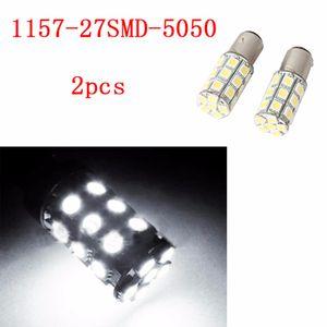 4 adet 1157 27SMD 5050 Beyaz Mikro Kubbe Endeksi Araba LED Lamba Ampüller Kama Beyaz Işık Far DC12V