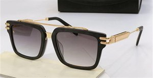 Top luxury men glasses THE ACE brand designer sunglasses square K gold frame high-end top quality outdoor uv400 eyewear