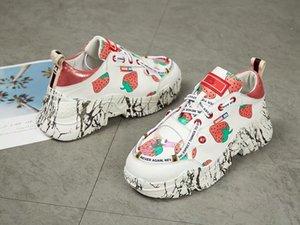 2019 zapatillas de diseñador de lujo para mujer, precios bajos, mejores zapatos de plataforma de cuero blanco de moda superior, zapatos casuales de boda para fiesta ld190803
