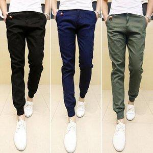 Spring Autumn New Mens Skinny Joggers Slim Pants Men Trousers Hip Hop Black Plus Size S-3XL