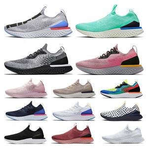 nike epic react fly knit flyknit Nefes yumuşak EPİC tepki fly örgü 2020 bayan erkek koşu ayakkabıları Kraliyet Yeşil tüm beyaz Deniz mist mavi kalaylı tasarımcı eğitmenler Sneakers