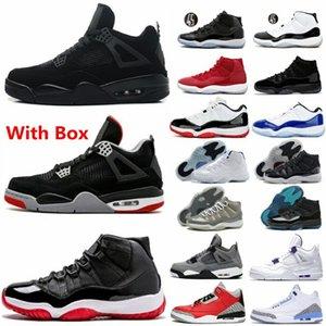2020 gato negro zapatos de baloncesto 11 4 4s blanco bajo criados 11s hombres zapatillas de deporte gris fresco leyenda gamma azul cemento negro UNC 3 3s space jam Concord