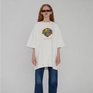 Logo 20SS Ader Err0r Empresa T-shirt Impressão manga curta Tee Moda Casual Algodão Shorts Mens e mulheres casal Designer T-Shirt HFXHTX101