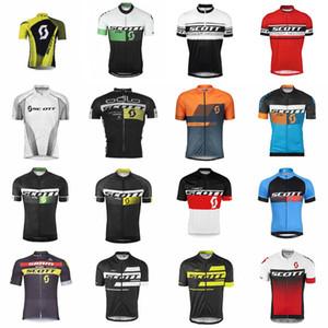 2019 SCOTT 사이클링 저어지 자전거 의류 자전거 의류 빠른 건조 남성 의류 짧은 착용 셔츠 여름 mtb 스포츠 저지 K012424
