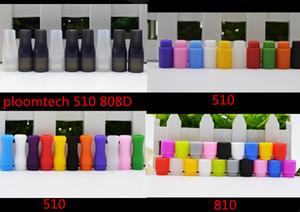 Embout buccal coloré Dripip 808d 510 810 en silicone jetable e-cigarette driptip Test de buse d'égouttement en caoutchouc de qualité alimentaire emballé individuellement