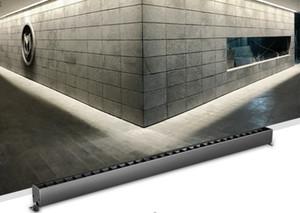 80cm 20W / 25W surface montée OSRAM fer lampe ligne linéaire gris bar moderne hall de l'hôtel 4000k Spotlight et LLFA de lumière polarisée