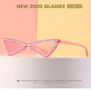 calle cristalina de la manera diamante Ne tiro gafas de sol gafas de sol retro 2020 la nueva calle de la moda Disparo de marco cuadrado grande rQWB4 footballshoe BzCAW