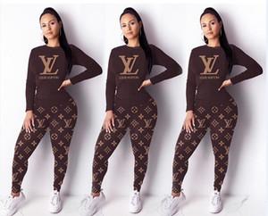 2PCS Ensembles Casual Skinny noir deux pièces Tenues de luxe Femme Vêtements Femmes Ver Designer Survêtements hiver