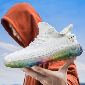2020 nuevos hombres de los zapatos ocasionales Caminar transpirable antideslizante masculino de gama alta ata para arriba resistente al desgaste ligero al aire libre las zapatillas de deporte Calzado