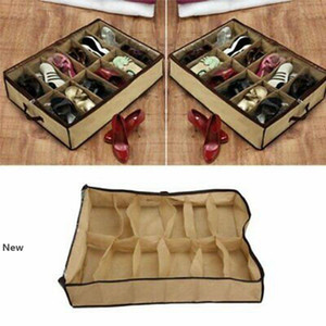 Chaussures de garde-robe Organisateur sous le lit de stockage Support Container Box Case Storer Pour 12 Chaussures ZZA1374 200pcs