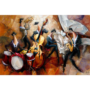 Canvas art Jazz Mainstream still life oil painting Hand painted beautiful flowers art for wall decor