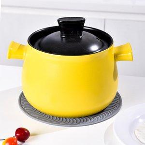 Silicone Pot napperon résistant à la chaleur Diamètre 20cm ronde Porte-antidérapante Pan Coaster DHA30