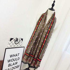 Красивые шарфы для женщин небольшого пчелиного шелкового шарфа Женского 180x90cm длинный платок 180 * 90 см для головы Больших Hijab Шарфов для дашь