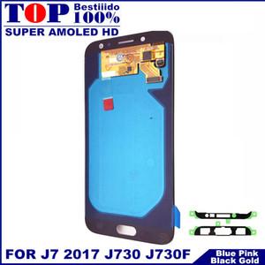 LCDs Ersatz für Samsung Galaxy J7 Pro 2017 J730 J730F LCD Display Touchscreen Digitizer mit Helligkeitsregelung Aufkleber