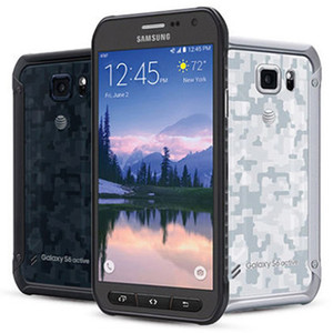 Recuperado Original Samsung Galaxy S6 Ativo G890A 5,1 polegadas Octa Núcleo 3GB RAM 32GB ROM Desbloqueado 4G LTE Outdoor Mobile Phone DHL 1PC