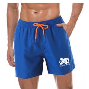 رياضة الرجال تشغيل الشاطئ القصير السراويل board 2020 hot sell swim trunk Quick-drying movement shorts swimwear For Male