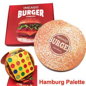 IMEAGO Burger palette de fards à paupières maquillage 16 couleurs Palette de fards à paupières hamburg Beauté 16 superbes garnitures bronzantes mates brillantes Palette Blush