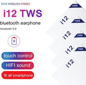 Hücre Telefon i12 tws Ture stereo 5.0 kablosuz bluetooth kulaklıkların kulaklık dokunmatik kontrol kablosuz kulaklık kulaklıklar