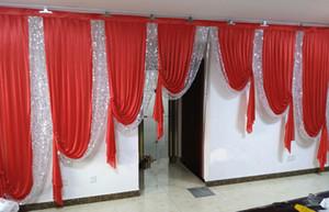 6m de largura design da festa de casamento Birtyday Stylist Swags para o contexto Partido Cortina Celebration Stage Fundo cortinas