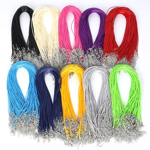 2MM Colorful Snake Wax Leather necklaces Cord String Rope Wire Extender Chain Fashion DIY jewelry Findings in Bulk