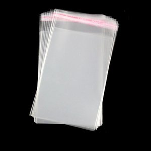 500pcs High Clear OPP Adhensive Mask Gifts Single Packaging Bag Trasnparent Jewelry Rings Dress Underwear Office Accessories Pouches clean