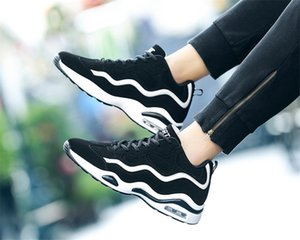 New Hover-cushioned shoes students casual running shoes fashion plus-size 36-45 men's women's small white shoes39-44
