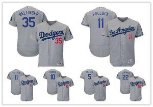Los AngelesDodgers 35 Cody Bellinger 5 Corey Seager Majestic Flexbase autêntica Colecção Jogador Jersey quente
