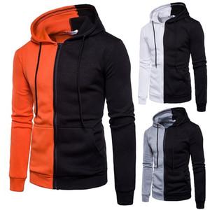 Skateboard Patchwork 2019 men's jackets Coat Sweatshirt zipper pilots band lovers Men Hoodie Sweatshirt Autumn Winter