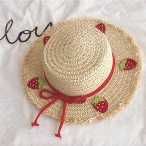 EnkeliBB Bebek Kız Güneş Koruma Siperlik Kız Güzel Meyve Hasır Şapka Çilek Muz Şeftali Kız Beautiul Şapka İçin Yaz