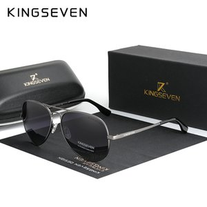 KINGSEVEN Brand Men Aluminum Sunglasses 2020 New Polarized UV400 Mirror Male Sun Glasses Women For Men Oculos de sol 7735 T200511