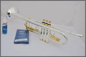 2019 Bach Stradivarius Professional Bb Trompeta LT180S-72 Llaves de oro plateadas Instrumentos Musicales Profesionales Boquilla