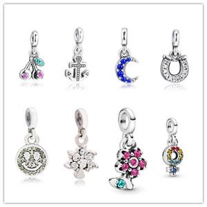 Se adapta a Pandora Beads Pulseras 100% 925 Joyas de plata esterlina Signature My Smiley con claros de CZ Clear Envío gratis