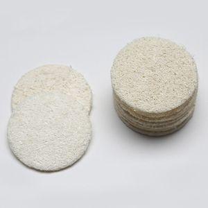 5.5cm redondo natural Eco Friendly lufa cara del cojín de maquillaje Quitar suave exfoliación de la piel muerta Baño Ducha lufa Cerative Depuradores BH2329 CY