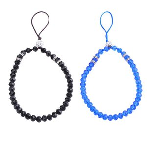 2pcs Cell Phone Lanyard Short Anti-theft Anti-lost Crystal Beads Hanging String Hand Wrist Strap for Keychain Camera Purse