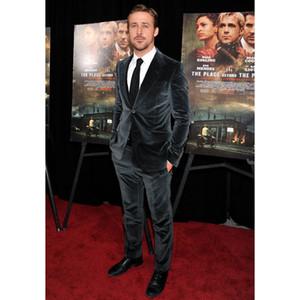 Designs Black Velvet Men Suit Slim Fit Tuxedo 2 Piece Formal Blazer Custom Party Suits Winter Jacket+Pant