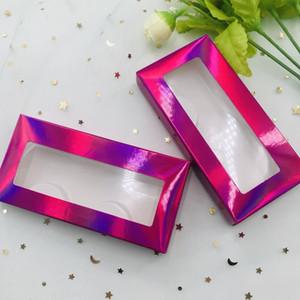 Голографическая коробка норковые ресницы пакет коробки накладные ресницы упаковка пустая коробка ресниц чехол ресницы коробка с держателем макияж инструмент 20 комплектов