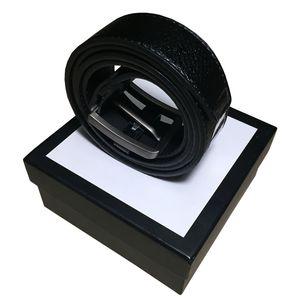 Correias das mulheres dos homens da correia cintos de couro Black Belts Mulheres cobra Big fivela de ouro Men Clássico Casual Pérola Belt Ceinture White Box 21 6584