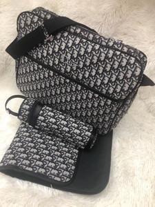 3Pcs Baby-Windel-Windel-Tasche Pflegetasche Mode Umstands Reißverschluss Handtasche Mutter Mama Umhängetasche Tops