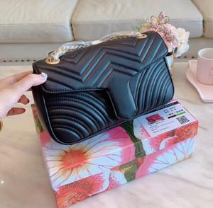 Сумка Marmont 443497 Роскошные сумки высокого качества Дизайнерские сумки Оригинальные мягкие овчинные сумки из натуральной кожи для женщин Сумки на ремне Come with BOX